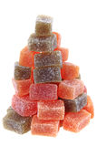 Cubes en fruit de sucrerie Photo libre de droits