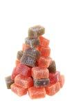 cubes en fruit de sucrerie comme arbre de Noël Image stock