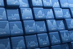 Cubes en indice des actions Image stock