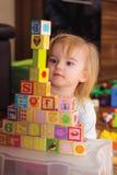 Cubes en jouet Photo libre de droits