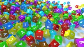 Cubes en jouet banque de vidéos