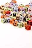 Cubes en lettre Photographie stock