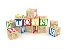 Cubes en lettre de jouet Image stock
