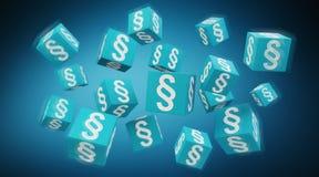 cubes en loi du rendu 3D Image stock