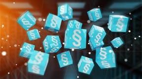 cubes en loi du rendu 3D Photo libre de droits