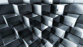 Cubes en métal Images libres de droits