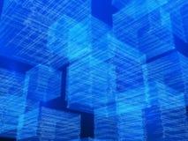 Cubes en matrice Images stock