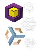 Cubes en modèles Image libre de droits