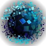 Cubes en planète Photographie stock