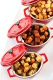 Cubes en pommes de terre photo libre de droits