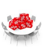 Cubes en pour cent Image stock