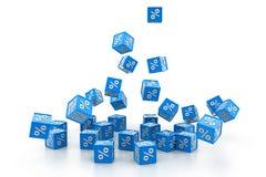 Cubes en pour cent Photos stock