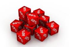 Cubes en pourcentage Photo libre de droits
