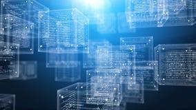 Cubes en programme de Digital dans le cyberespace illustration stock