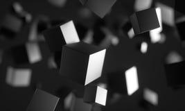 Cubes en Scifi dans l'espace vide illustration stock