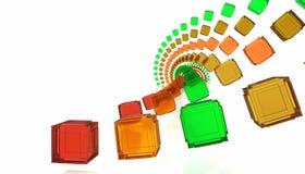 Cubes en spirale abstraits illustration libre de droits