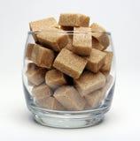 Cubes en sucre de Brown Photo stock