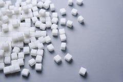 Cubes en sucre raffiné images libres de droits