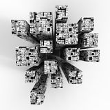 Cubes en technologie Photo libre de droits