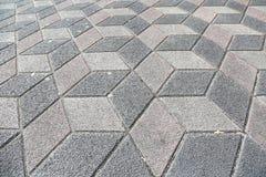 Cubes en trottoir 3D de trottoir Photo libre de droits
