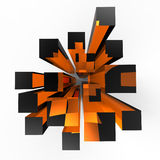 Cubes en verre Images libres de droits