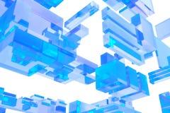 cubes en verre 3D Photographie stock libre de droits