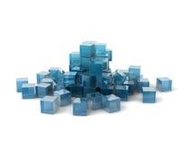 Cubes en verre Photo stock