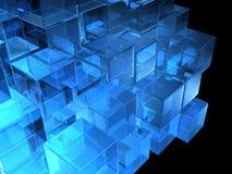 Cubes en verre Photographie stock libre de droits