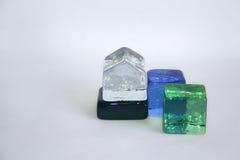 Cubes en verre Photo libre de droits