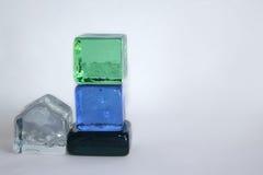 Cubes en verre Image libre de droits