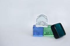 Cubes en verre Photos stock