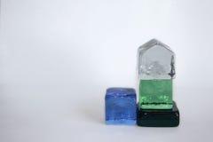 Cubes en verre Images stock