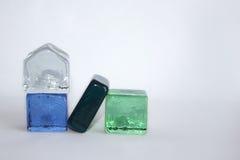 Cubes en verre Photographie stock