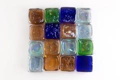 Cubes en verre colorés multi Photo stock
