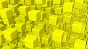 Cubes en vol Image stock