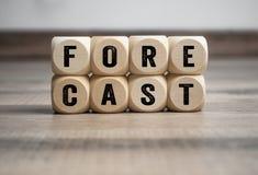 Cubes et matrices avec la prévision de terme image stock