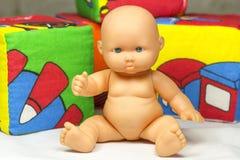Cubes et poupée Image stock