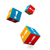 Cubes Exclamation Mark Stock Image