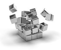 Cubes Exploding Royalty Free Stock Image