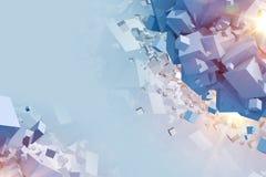 Cubes Explosion Concept Stock Photos