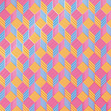 Cubes on fabric pattern Royalty Free Stock Image