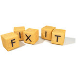 Cubes with fix it Royalty Free Stock Photography
