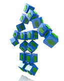 Cubes in the form of an arrow Royalty Free Stock Images