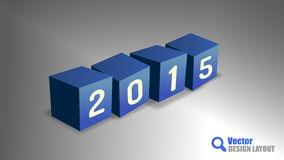 2015 Cubes Stock Photography