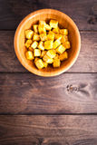 Cubes of fried tofu Royalty Free Stock Images