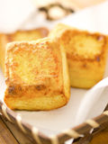 Cubes frits en tofu Photographie stock