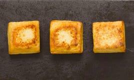 Cubes frits en tofu Image stock