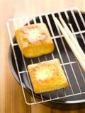Cubes frits en tofu Photographie stock libre de droits