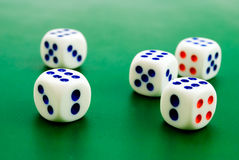 Cubes for gambling Stock Photo