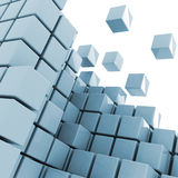 Cubes getting detached abstract background Royalty Free Stock Image